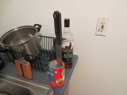 Ingeniously opened can of Chef Boyardee