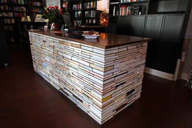 book desk at BookBar