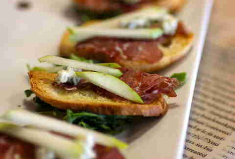 Hemingway crostini at BookBar