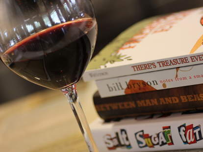 wine and books at BookBar