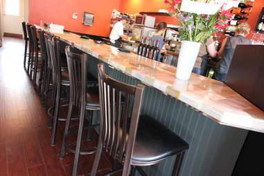 bar area at BookBar