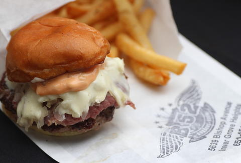 Reuben slider at B-52 Sliders truck in the Twin Cities