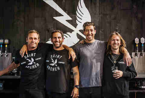 Taylor Knox, Josh Landan, Mikey Taylor and Bryan Herman of Saint Archer Brewery.