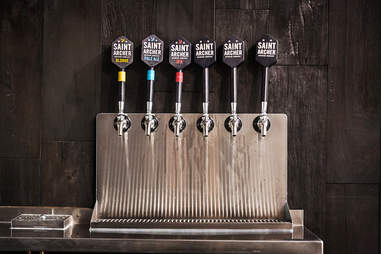 Taps at Sainter Archer Brewery.