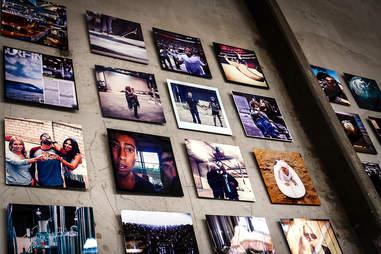 Instagram photos on display at Saint Archer Brewery.