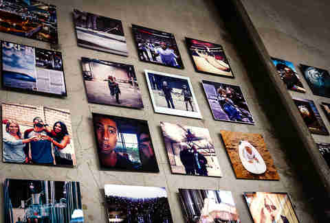 Instagram photos on display at Saint Archer Brewery.