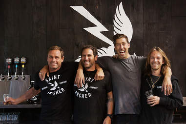 Taylor Knox, Josh Landan, Mikey Taylor and Bryan Herman of Saint Archer Brewery.