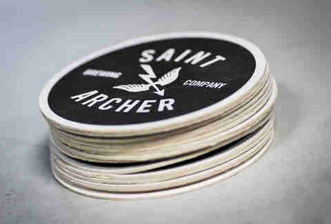 Coasters at Saint Archer Brewery in San Diego.