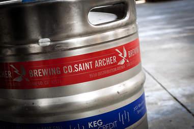 A keg at Saint Archer Brewery.