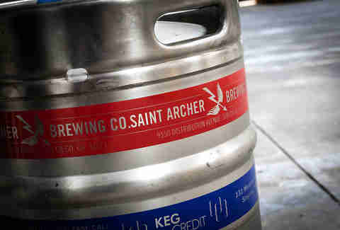 A keg at Saint Archer Brewery.