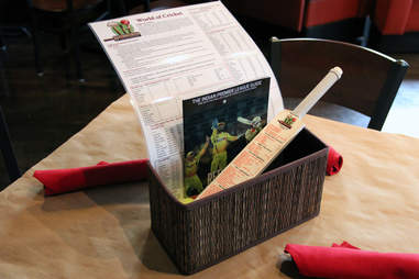 Cricket information table setting at Hit Wicket