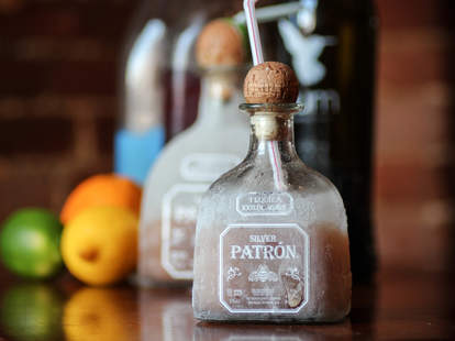 A chilled bottle of Patron
