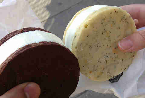 Ice Cream Sandwiches at Cream Cycle