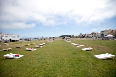 Cornhole tournament at The San Francisco Lawn Party