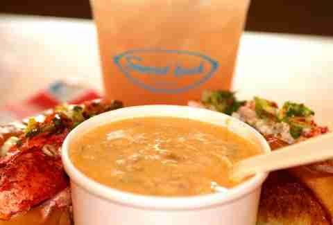 Downeast bisque at Lobster Pound