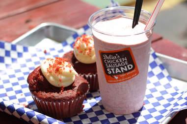 Red Velvet Milkshake from Delia's Sausage Stand