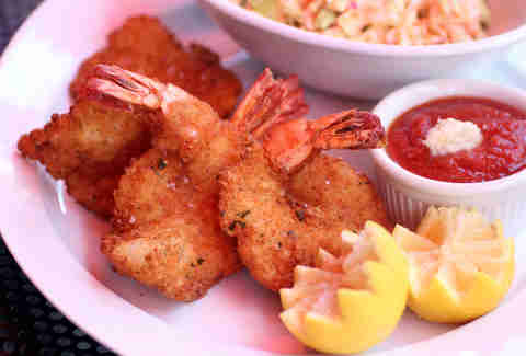 French fried shrimp with lobster coleslaw at Centro Ristorante in River North