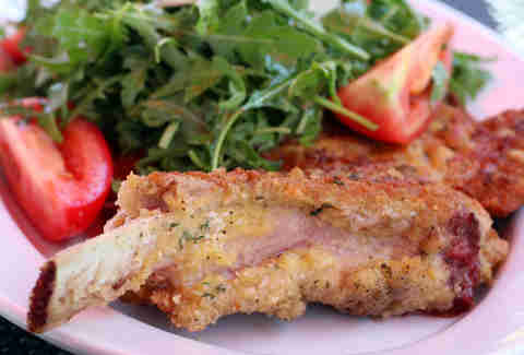 Milanese pork chop at Centro Ristorante in River North
