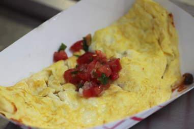 Pico de gallo omelette at Kabomelette truck in Minnneapolis.