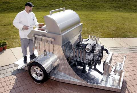Hemi-powered grill