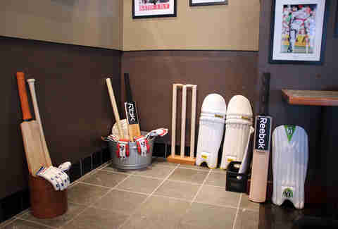 Cricket equipment at Hit Wicket