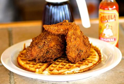 Chicken and waffles main