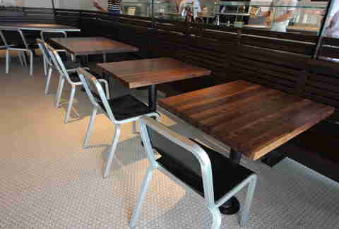 tables and chairs at Pizzeria Locale Denver