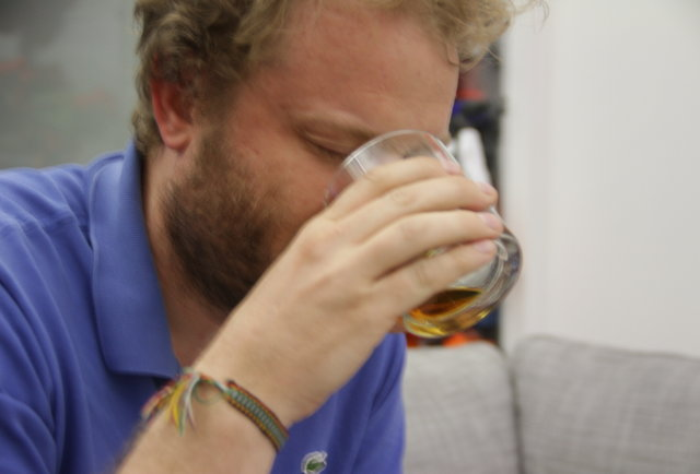 Taste-testing a bourbon that\'s aged in days, not years