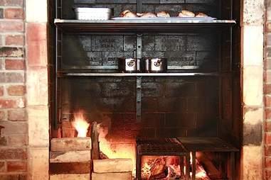 The hearth at Old Salt Marketplace.
