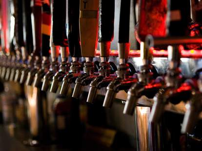 Beer taps at Hamilton's Tavern in San Diego