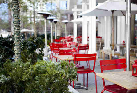 Outdoor seating at TAP