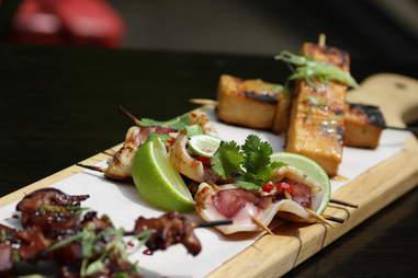 Hawker Bar - Montauk squid skewer