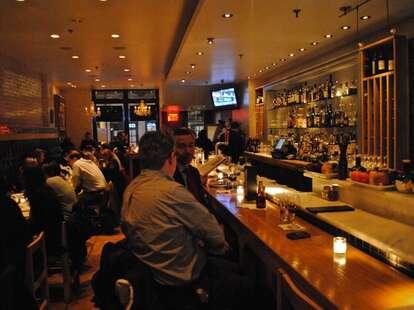 Interior shot of Adrienne's Pizzabar