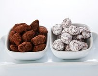 Chocolate covered almonds & hazelnuts