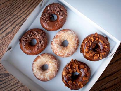 Enoch's donuts at Endgrain in Roscoe Village