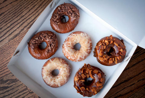 Enoch's donuts at Endgrain in Roscoe Village