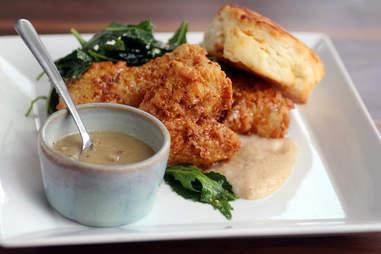 Fried chicken dinner at Endgrain in Roscoe Village