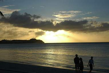 Guam beach sunset