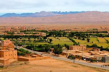 Morocco desert skyline