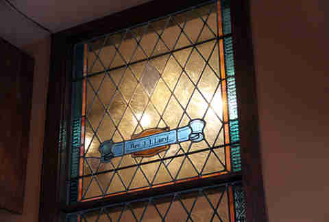 Stained glass at Centre Street Sanctuary