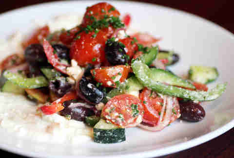Greek salad at Centre Street Sanctuary