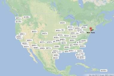 Southwest's getaway finder