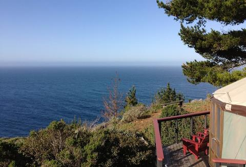 Treebones Resort Big Sur yurt coastline