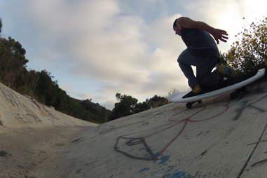 The Waveskate in skateboard mode