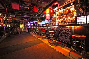 Burt's Tiki Lounge interior in Albuquerque