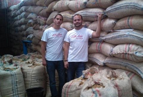 coffee making brothers at Villa Myriam