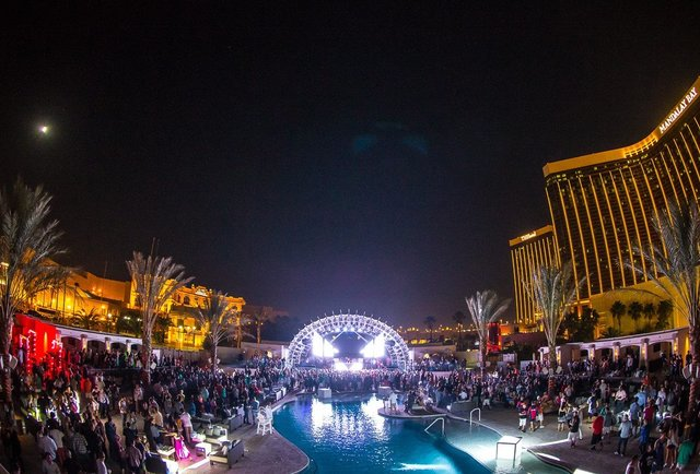 Cirque du Soleil, bottle service, and a massive pool full of insanity