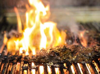 Sizzling grill at Benji's Cantina