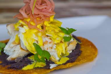 MAR - smoked swordfish tostada