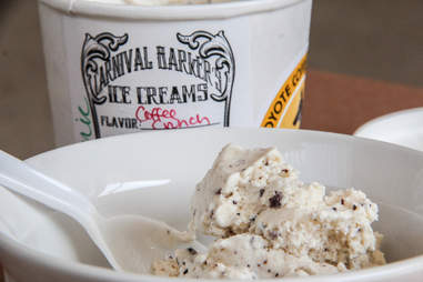 Coffee crunch ice cream from Carnival Barker's